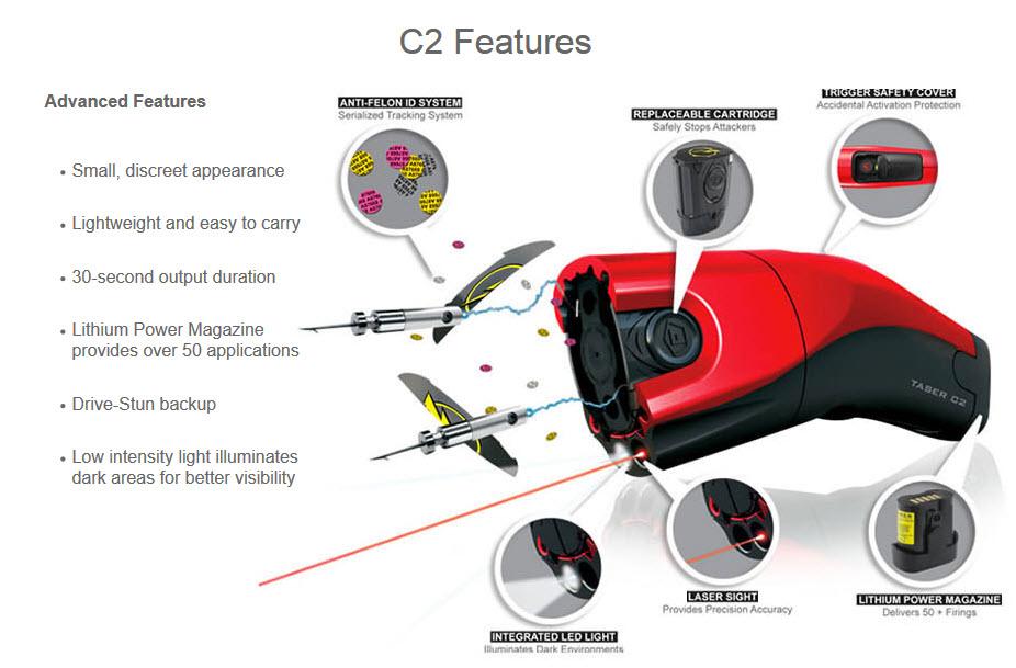 Taser C2 Features